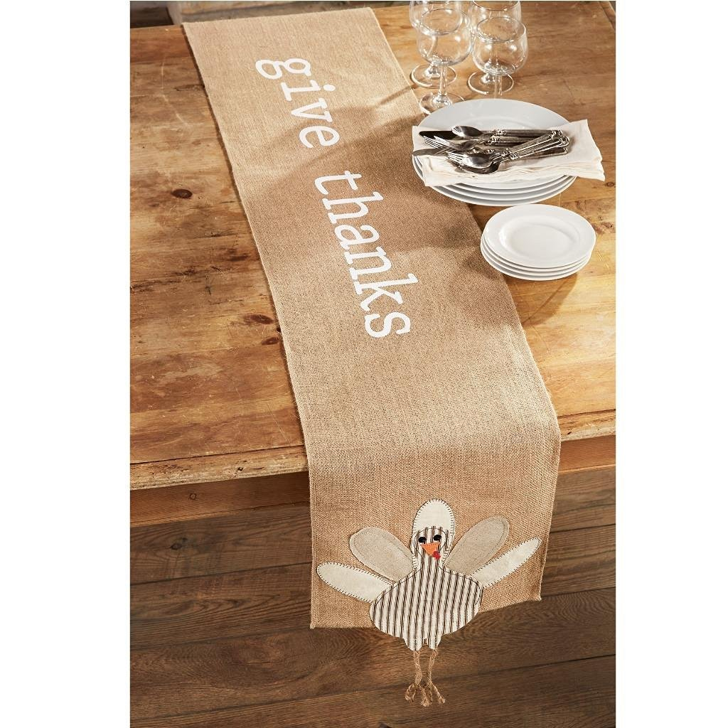 Give Thanks Table Runner for Thanksgiving