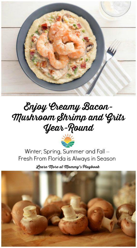 Bacon Mushroom Shrimp & Grits