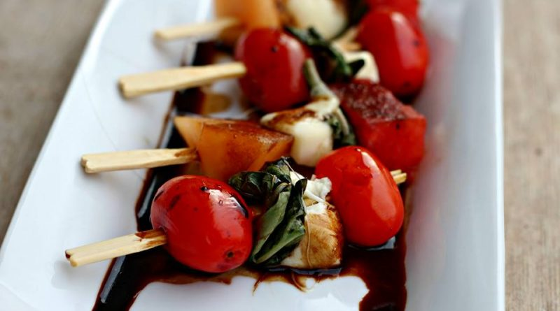 Grilled Caprese Salad on a Stick