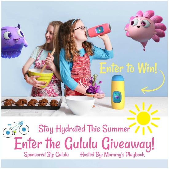 Enter to win a Gululu Interactive Water Bottle (APV $124)