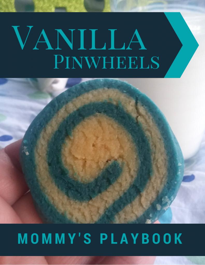 Easy Pinwheel Cookies; Vanilla Swirl #Cookies #ChristmasCookies