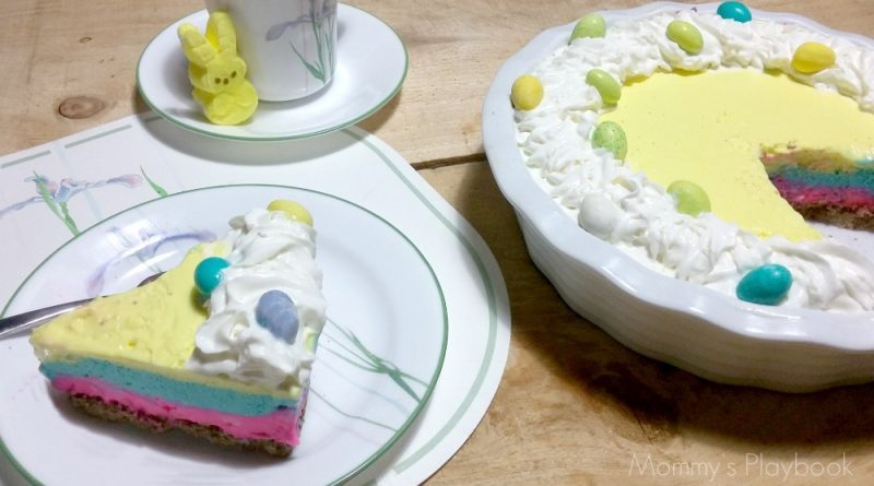 3 Layer No-Bake Cheesecake for Easter #Easter #EasterDesserts #Cheesecake