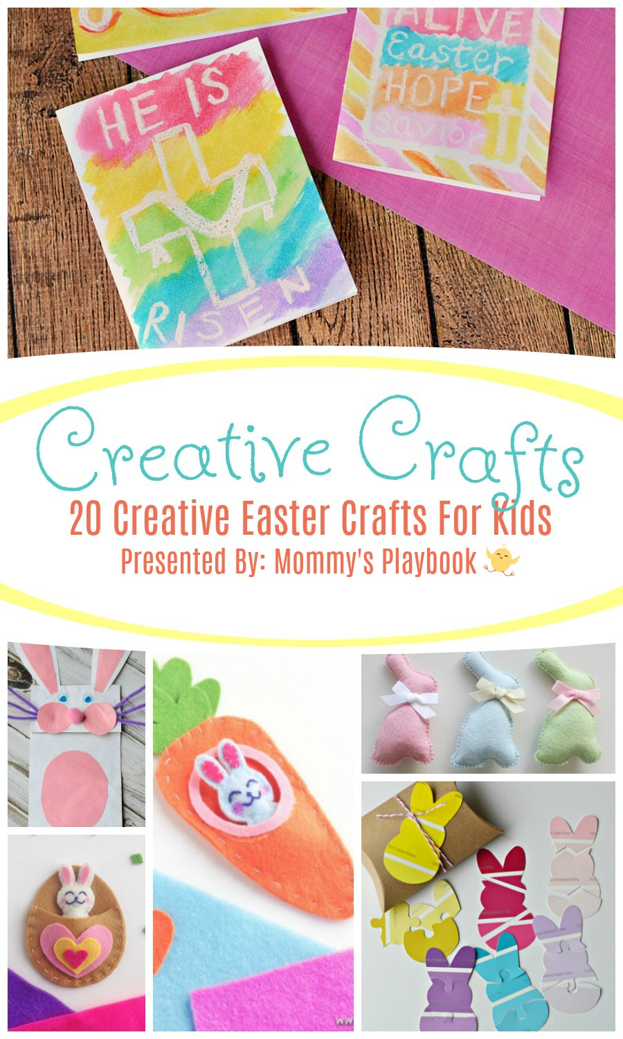 20 Creative Easter Crafts for Kids #Craft #CraftRoundup #Easter #EasterCrafts