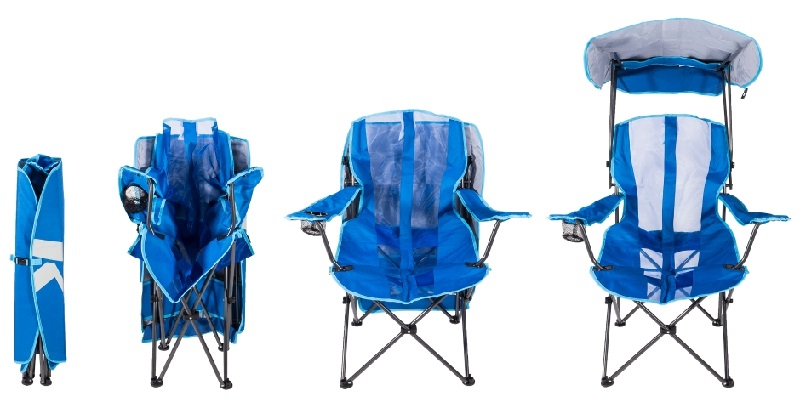 The Kelsyus Original Canopy Chair is the perfect companion for your family camping trips, tailgating, and watching the kids from the sidelines!