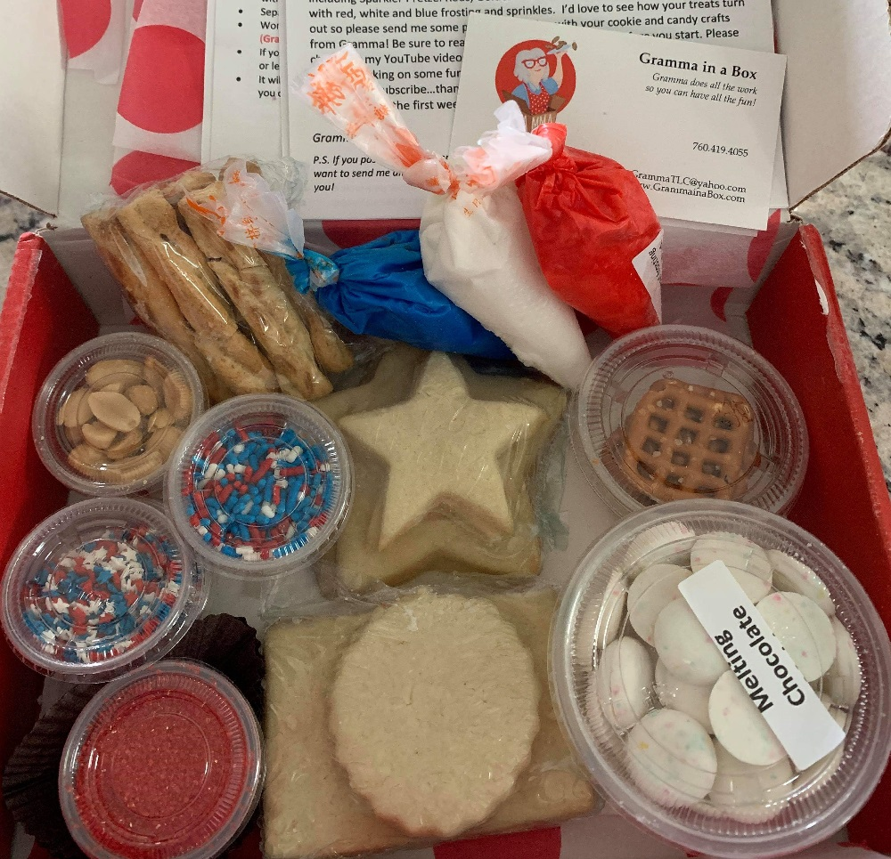 Gramma in a Box includes baked cookies with frosting and sprinkles as well two easy candy crafts to make - enough to make up to 20 finished products in each box. Step-by-step instructions with illustrations are included. Fun for everyone in the family.