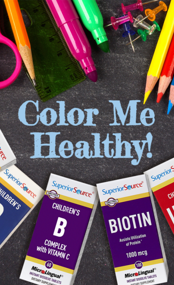 No more swallowing scary vitamin pills! Enter our #backtoschool vitamin #giveaway for a chance to #WIN $60 in @SuperiorSource instant dissolve vitamins!