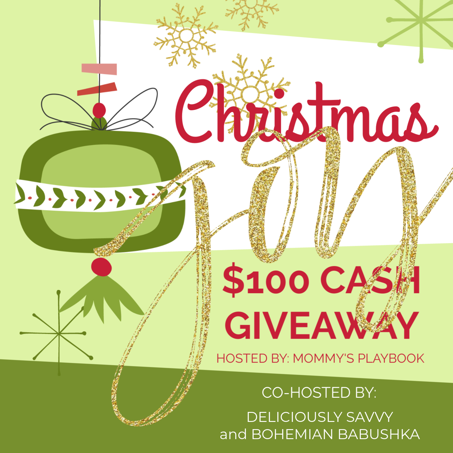 Christmas Joy Cash Giveaway Button