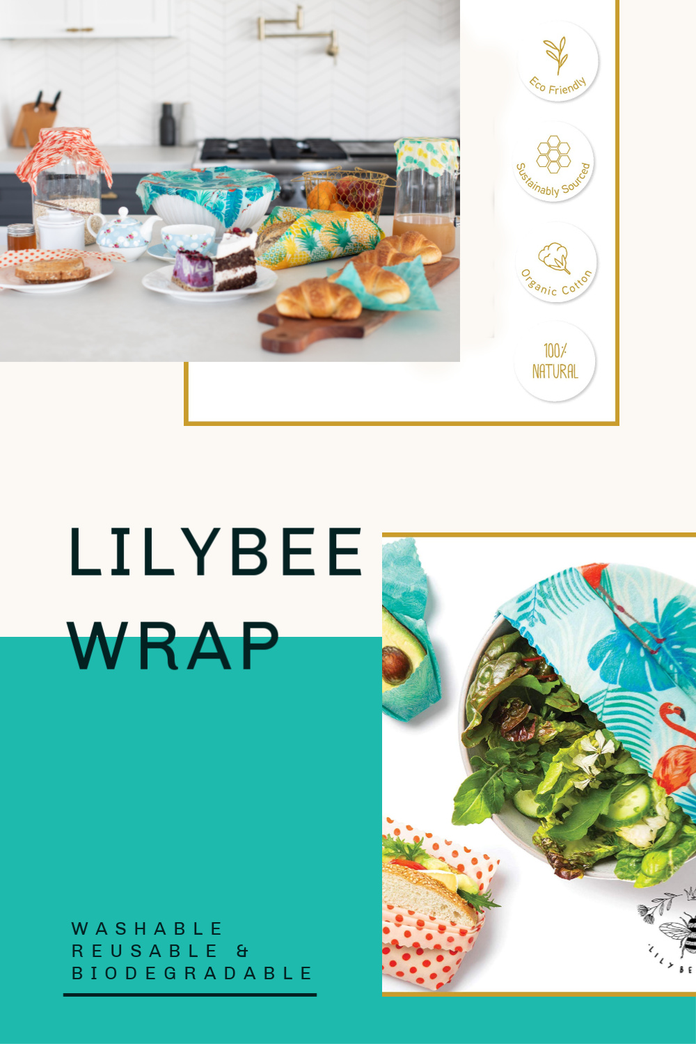 LilyBee Washable Food Wrap