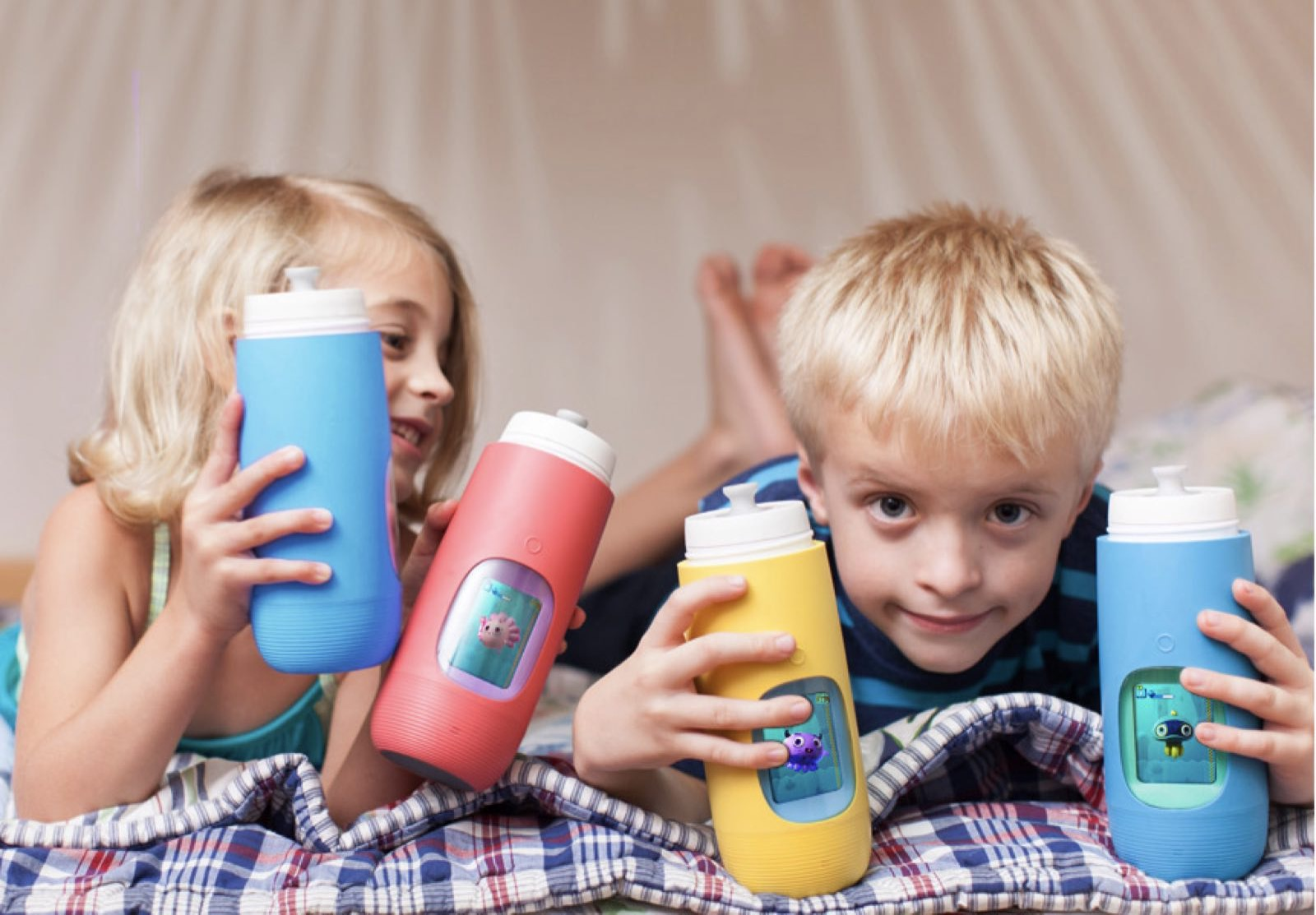 Back to School Must-Haves! Gululu Interactive Water Bottle with Hydration Tracking App for Parents! This great water bottle even has school-time settings!