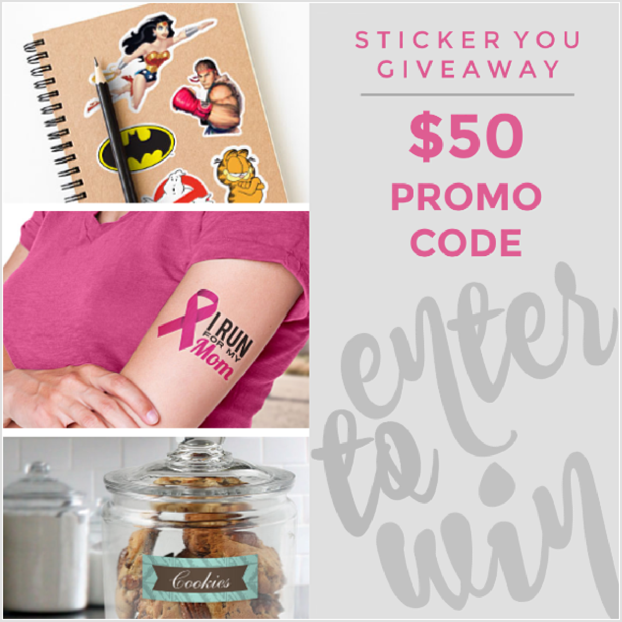 Enter to win the Sticker You Giveaway Event at Mommy's Playbook! One Lucky Winner Will Receive $50 Gift Card to Sticker You!!