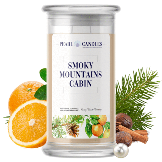 Smoky Mountains Cabin Pearl Candle #JewelryCandles #FallScents #FallFavorites #AutumnCandles
