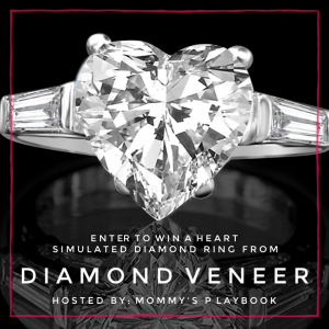 Heart Simulated Diamond Ring from Diamond Veneer #ValentinesDay #BestGiftsforHer