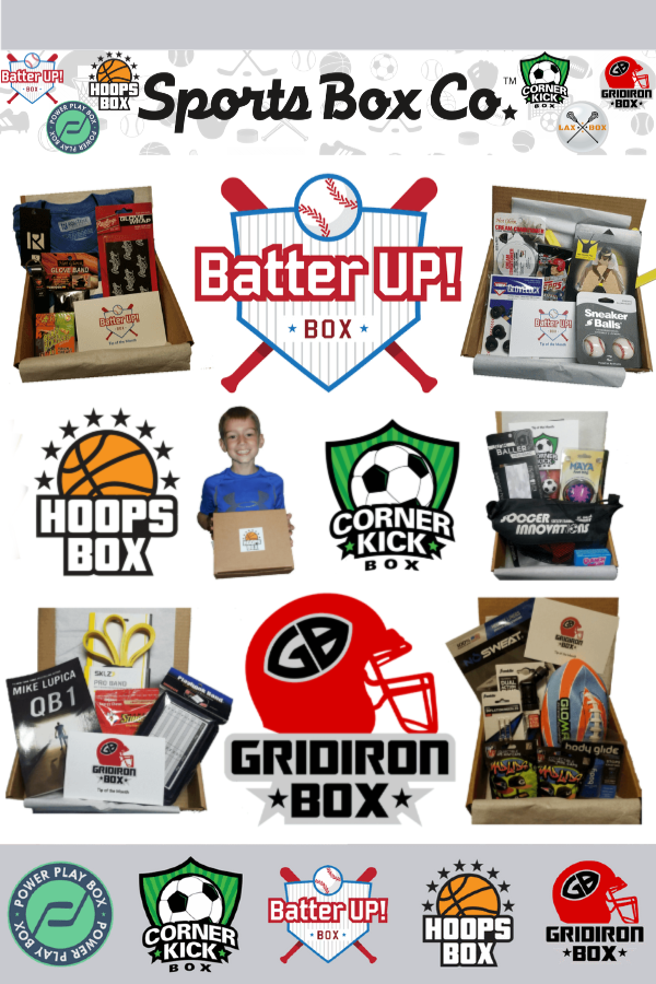 Keep kids engaged & excited about baseball, softball, hockey, football, soccer, lacrosse & basketball with Sports Box Co #SportsBoxCo