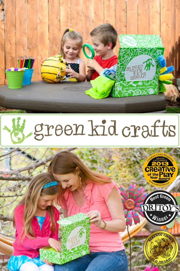 "Green Kid Crafts Plants a Tree for Every Order Placed! Green Kid Crafts is Developed by teachers, crafty moms and STEAM experts (science, technology, engineering, arts and mathematics) to support key developmental skills for kids ages 2-10+, our products celebrate creativity with craft projects and activate thinking, questioning, inquiring, and original creation as we guide children through fun science experiments. In an effort to encourage growth of the ""whole child"", all of our kits are reviewed by our panel of experts to meet our Happy & Healthy Child criteria."