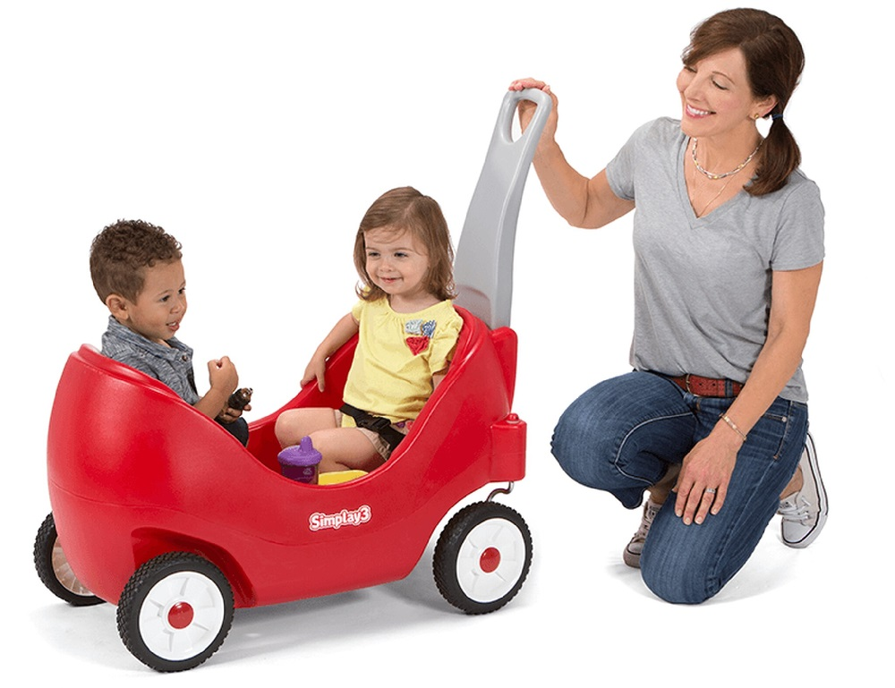 The Simplay3's High Back Toddler Wagon #BTS2019 #Back2School