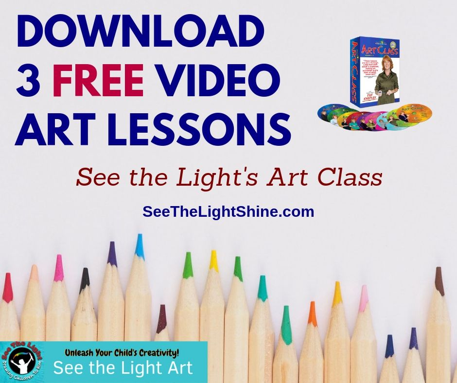 Teaching Art At Home Has Never Been This Easy--Or This Fun!! Visit See the Light to Try 3 FREE Video Art Lessons!