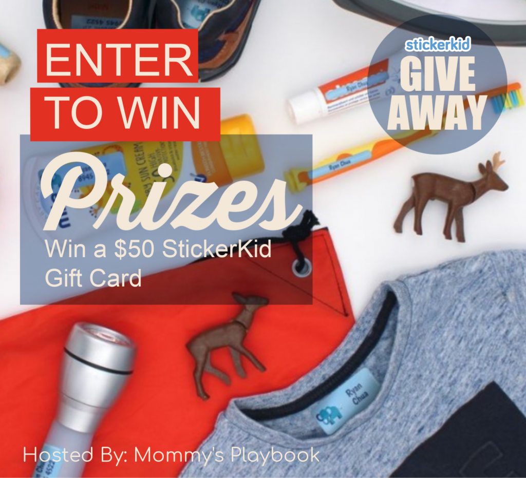 Enter to Win a $50 StickerKid Gift Card at Mommy's Playbook
